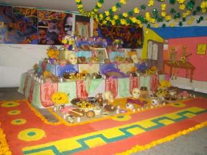Un ejemplo de un altar de muertos.