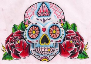 Calavera en color